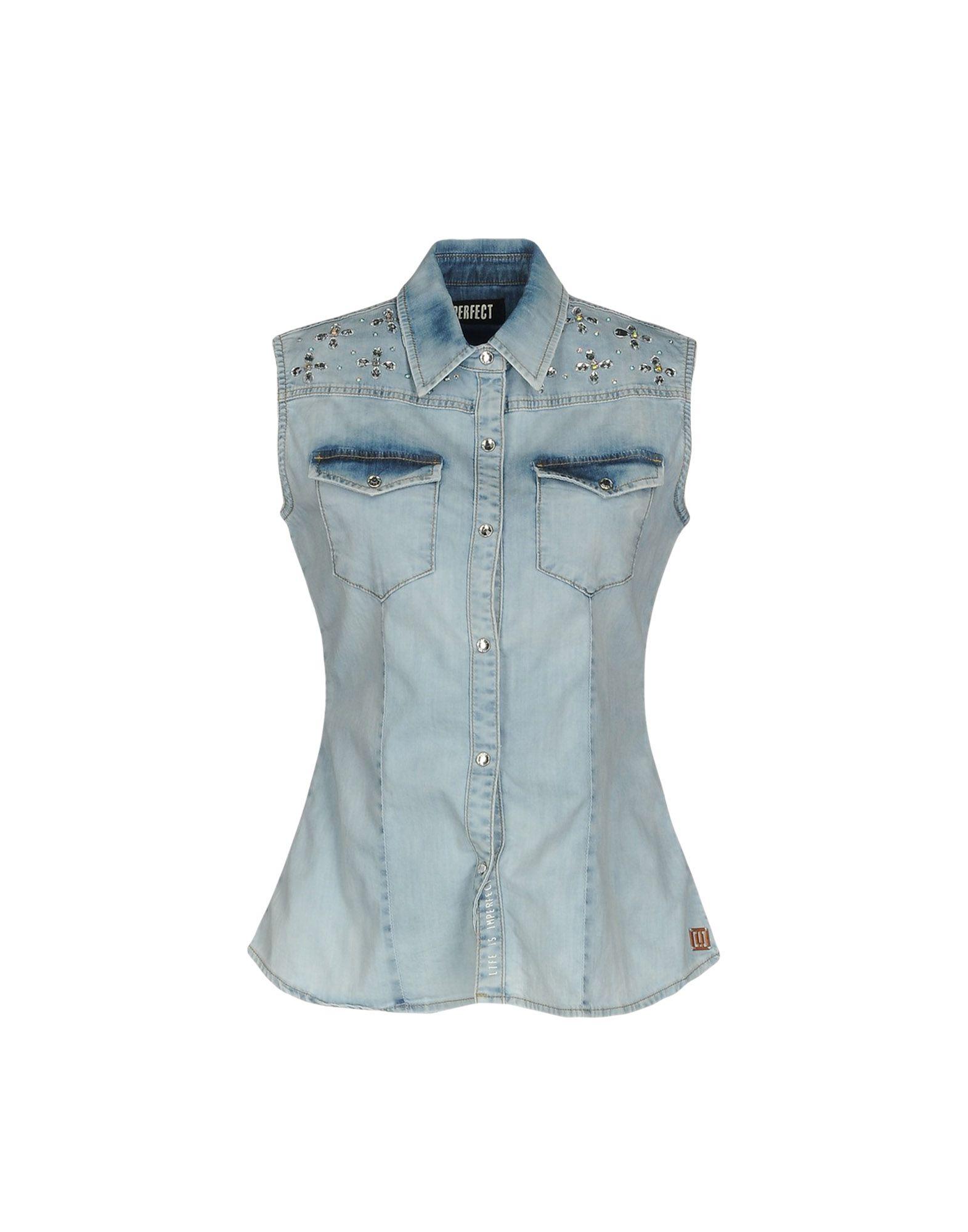 !M?ERFECT Джинсовая рубашка m erfect джинсовая рубашка