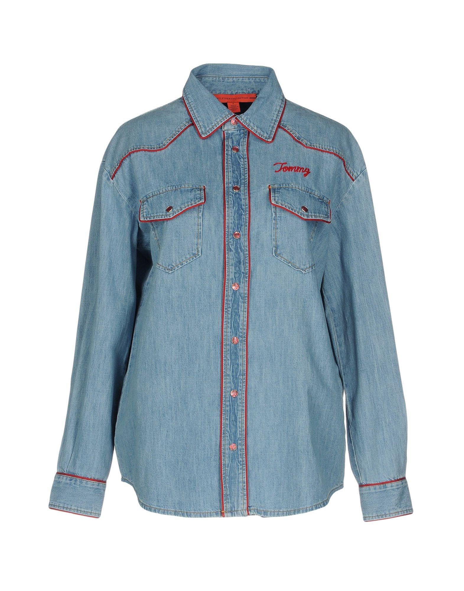 HILFIGER COLLECTION Джинсовая рубашка mcr джинсовая рубашка