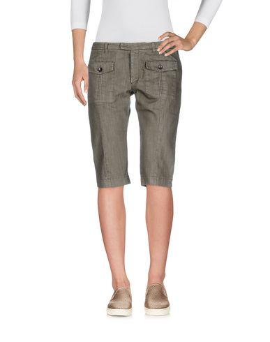 Фото - Джинсовые брюки-капри цвет зеленый-милитари