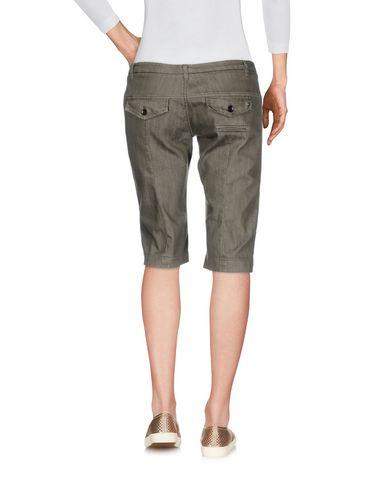 Фото 2 - Джинсовые брюки-капри цвет зеленый-милитари