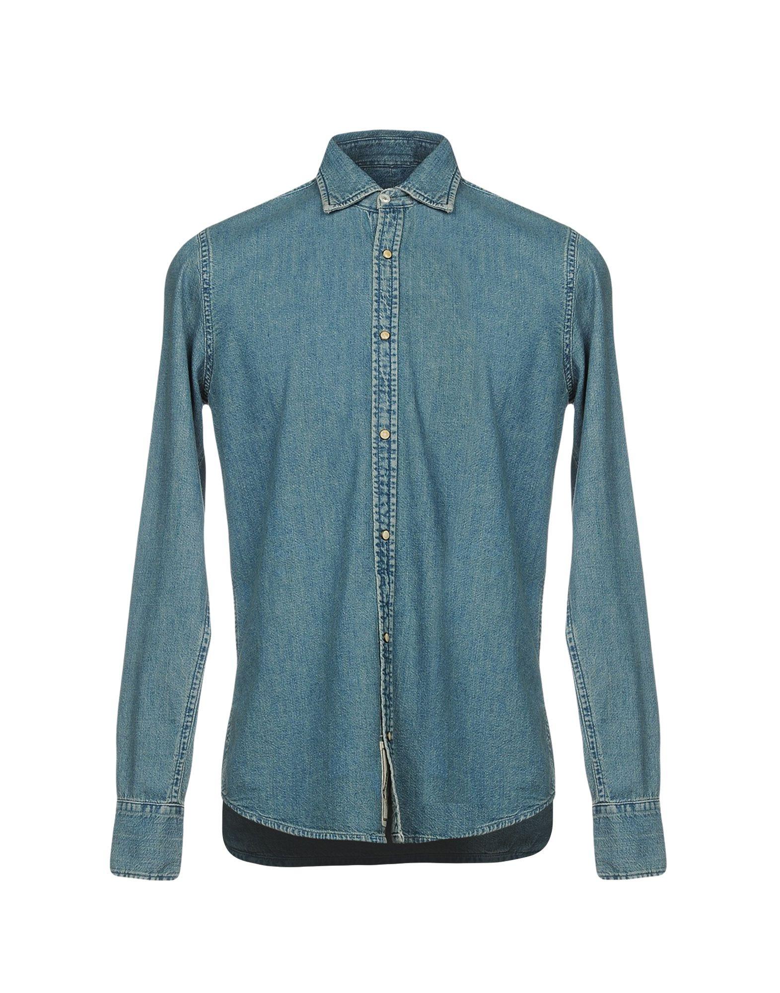 купить PENCE Джинсовая рубашка дешево