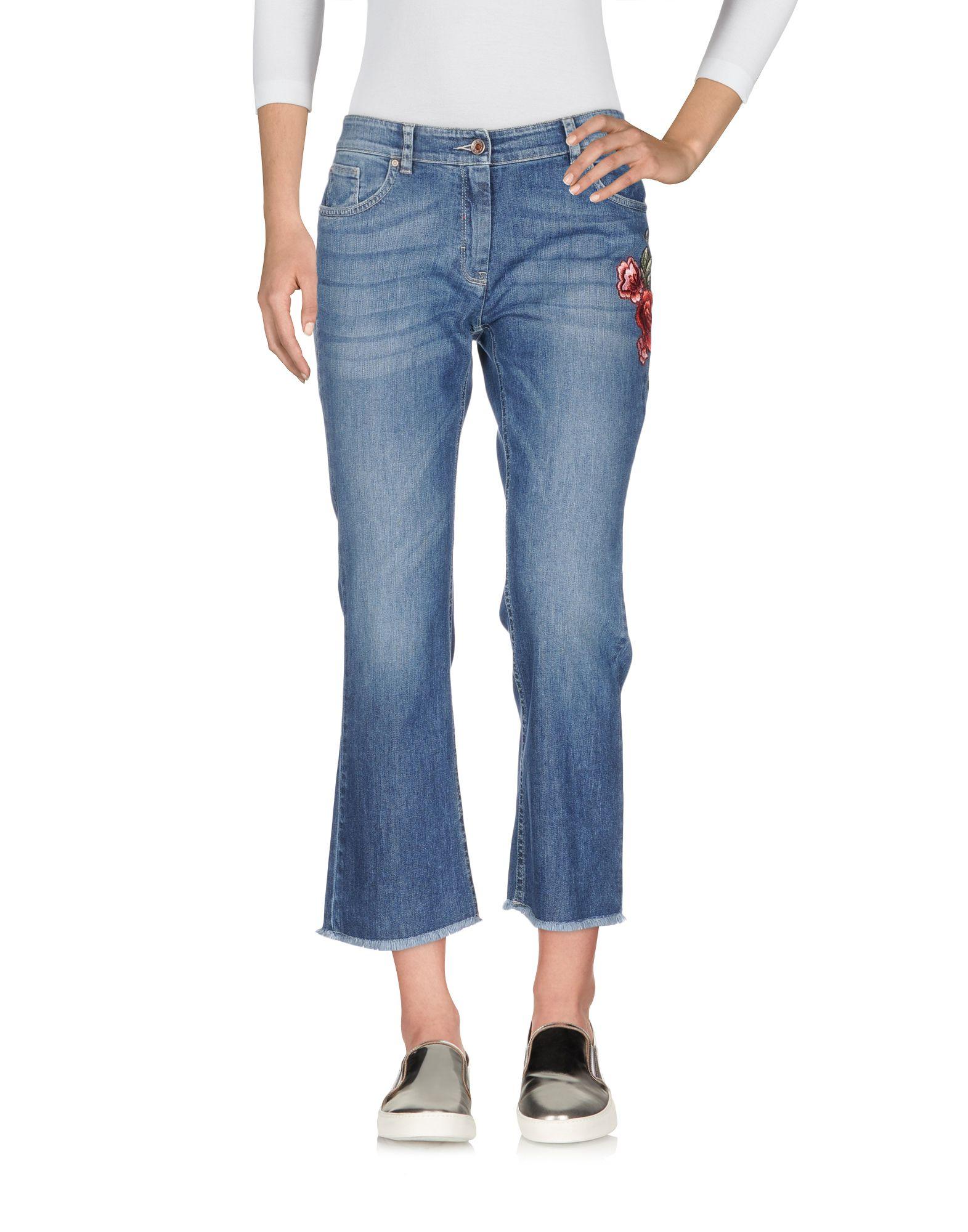 19.70 NINETEEN SEVENTY Джинсовые брюки-капри 19 70 nineteen seventy джинсовые брюки