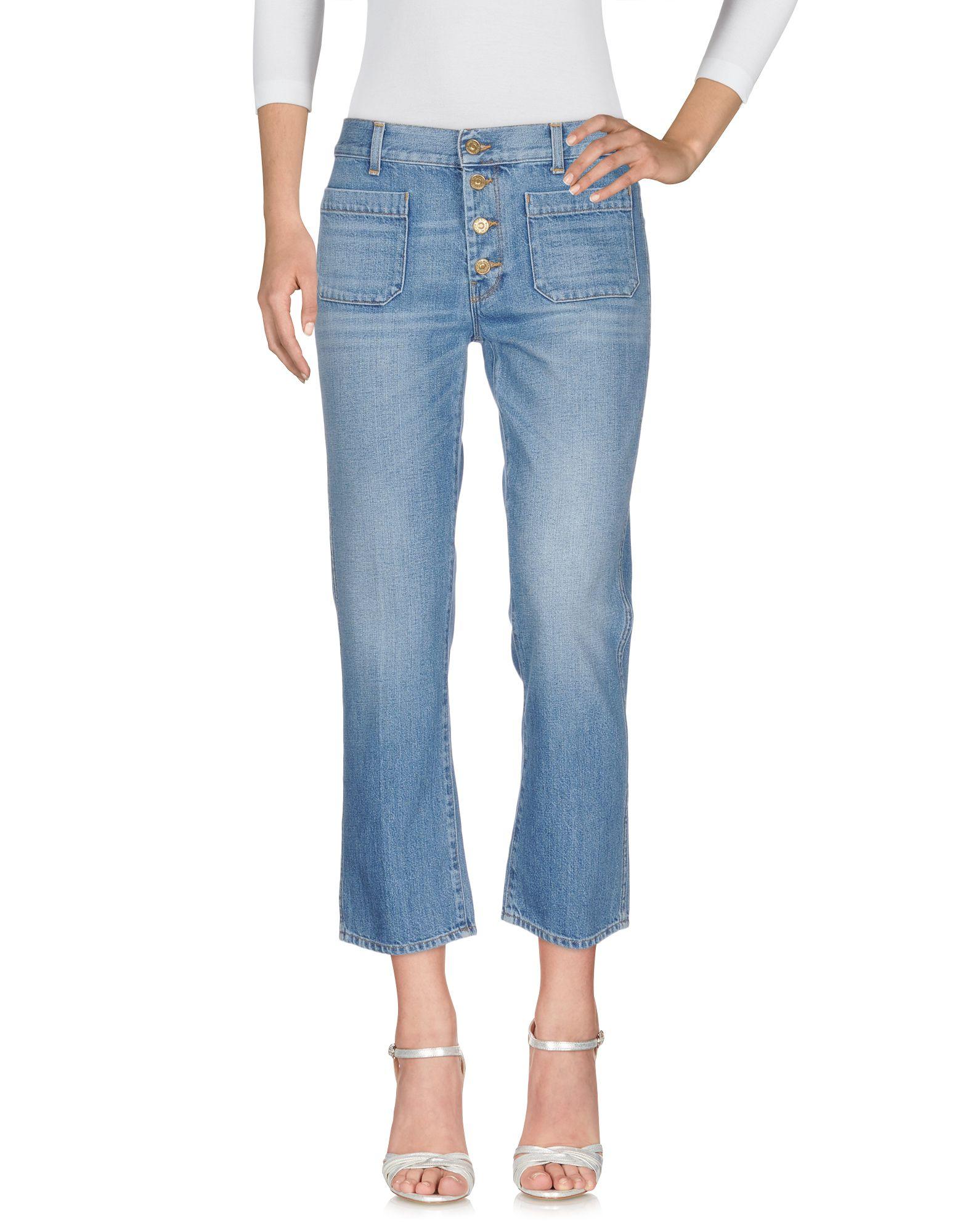 7 FOR ALL MANKIND Джинсовые брюки женские брюки лэйт светлый размер 56