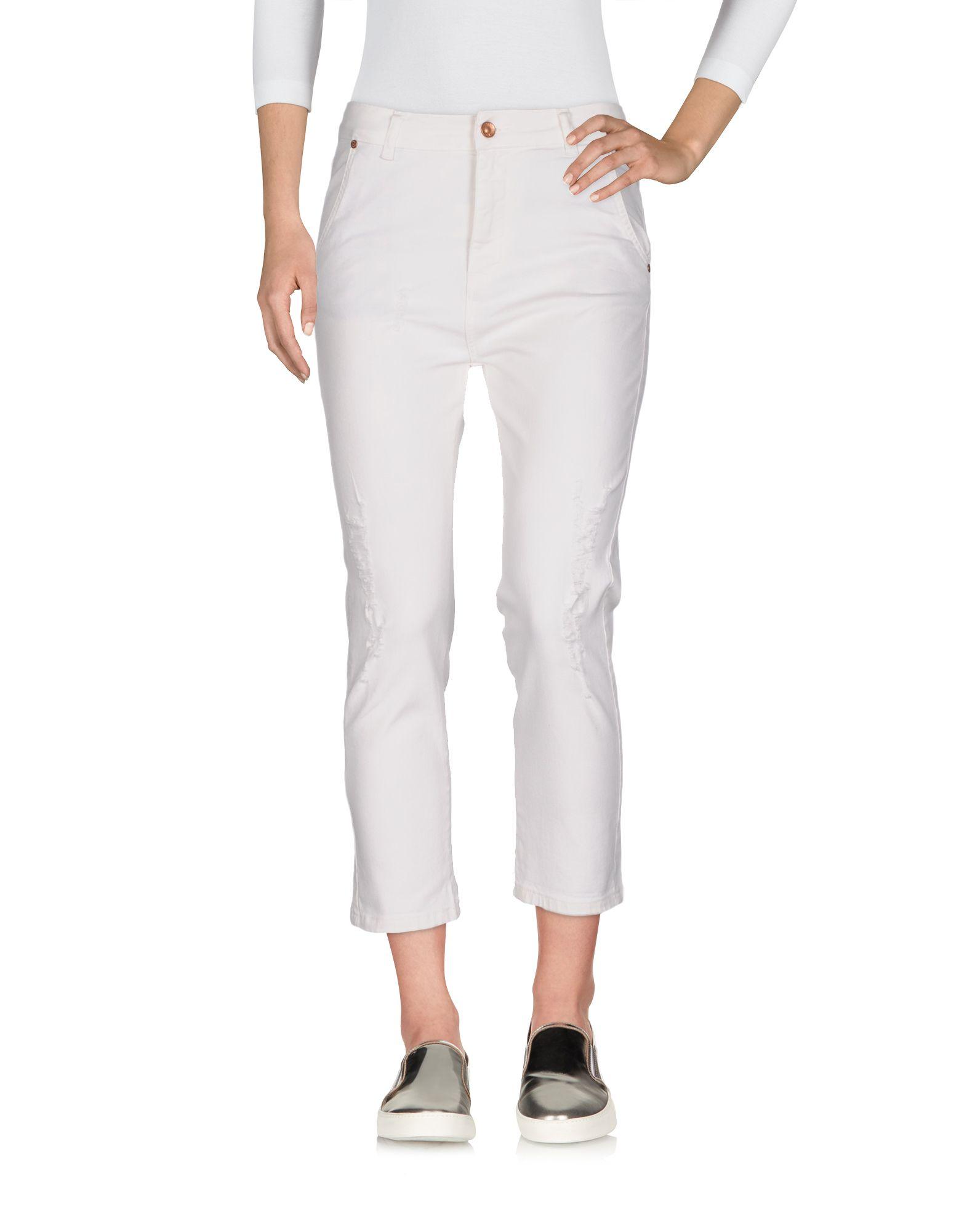 SOALLURE Джинсовые брюки-капри soallure джинсовые брюки