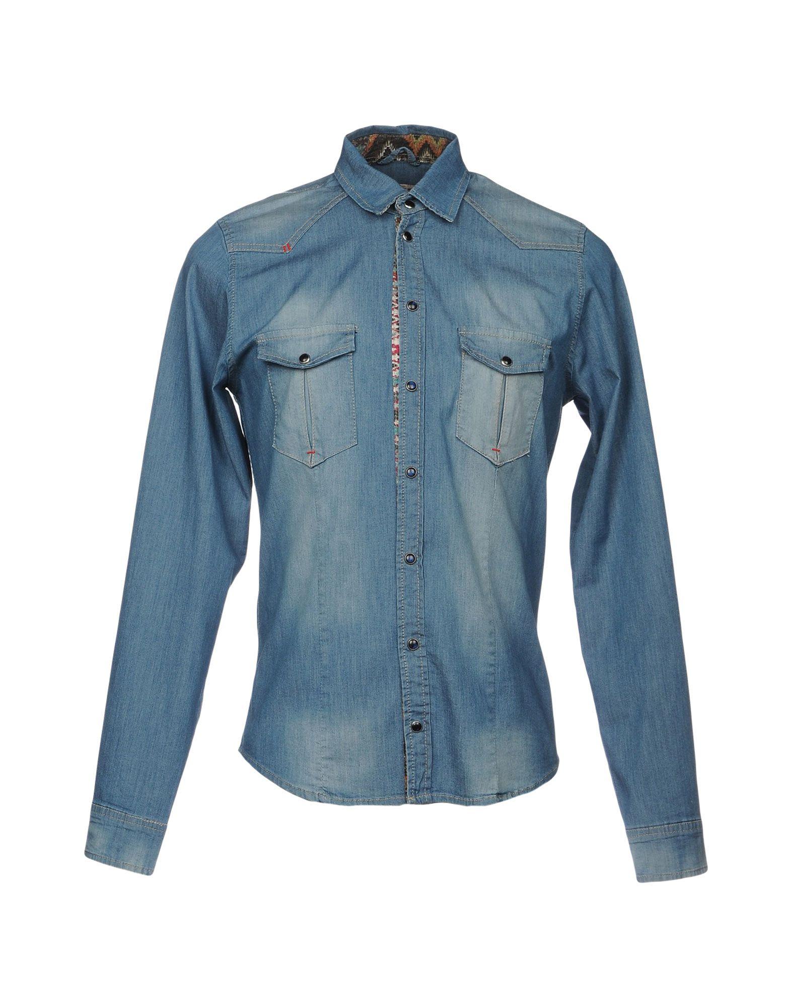 цена X-CAPE Джинсовая рубашка онлайн в 2017 году
