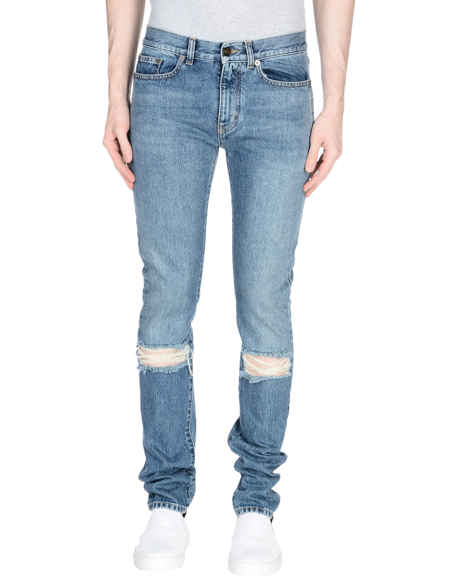 SAINT LAURENT Джинсовые брюки женские брюки лэйт светлый размер 56