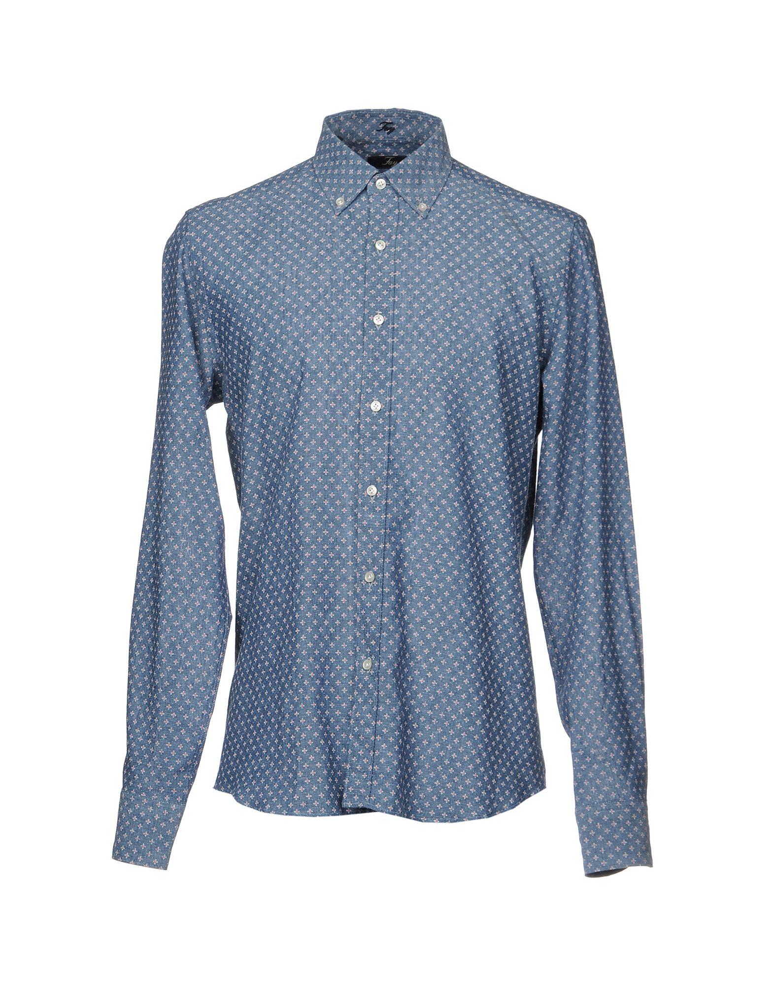 цены на FAY Джинсовая рубашка в интернет-магазинах