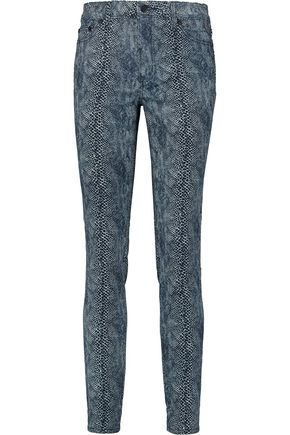 TORY BURCH Printed high-rise skinny jeans