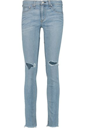 RAG & BONE Distressed low-rise skinny jeans