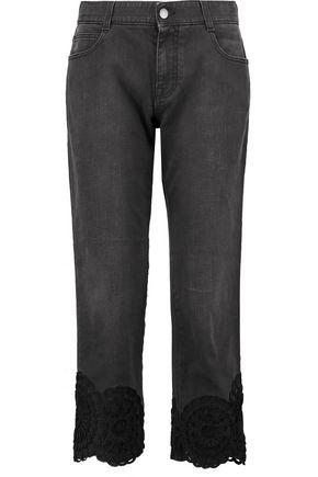 STELLA McCARTNEY The Tomboy appliquéd boyfriend jeans
