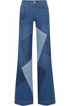 STELLA McCARTNEY Patchwork high-rise flared jeans