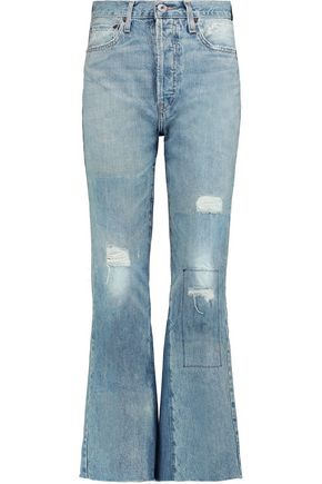 RE/DONE Leandra cropped mid-rise bootcut jeans