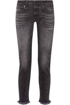 R13 Boy Skinny mid-rise frayed boyfriend jeans