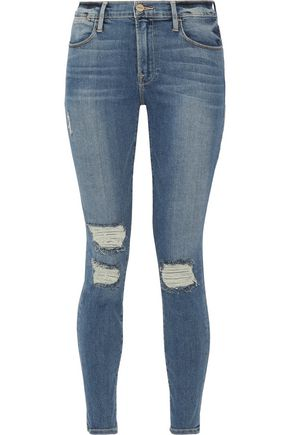 BY FRAME Le High Skinny distressed jeans