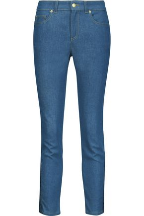 ALEXANDER MCQUEEN Mid-rise lace-up slim-leg jeans