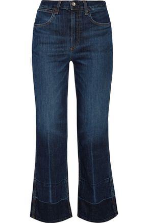 RAG & BONE Lou cropped high-rise straight-leg jeans