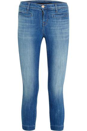 J BRAND Skeyla cropped mid-rise skinny jeans
