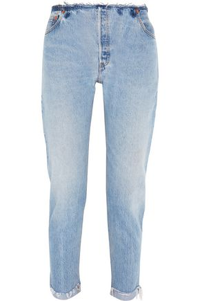 RE/DONE Frayed high-rise jeans