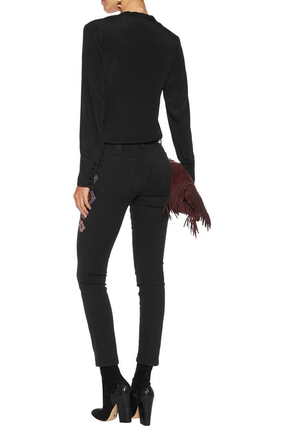 Mid-rise embroidered skinny jeans | ETRO | Sale up to 70% off | THE OUTNET