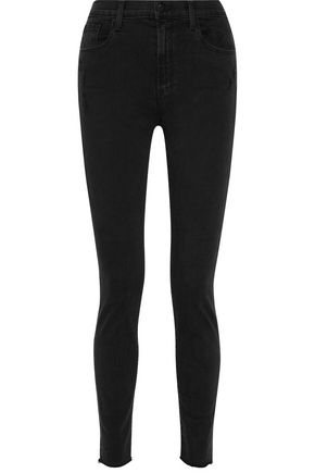 J BRAND Carolina distressed high-rise skinny jeans
