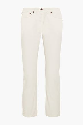 THE ROW Ashland cropped high-rise straight-leg jeans