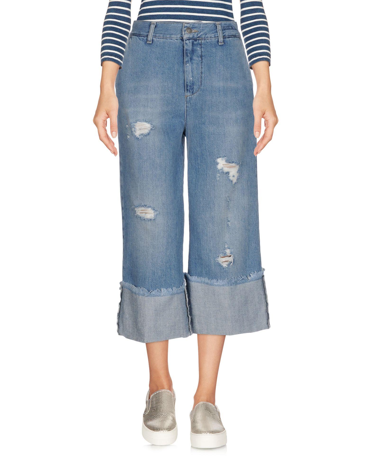 цена VICOLO Джинсовые брюки-капри онлайн в 2017 году