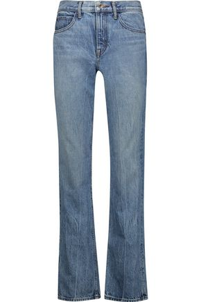 HELMUT LANG Mid-rise faded straight-leg jeans