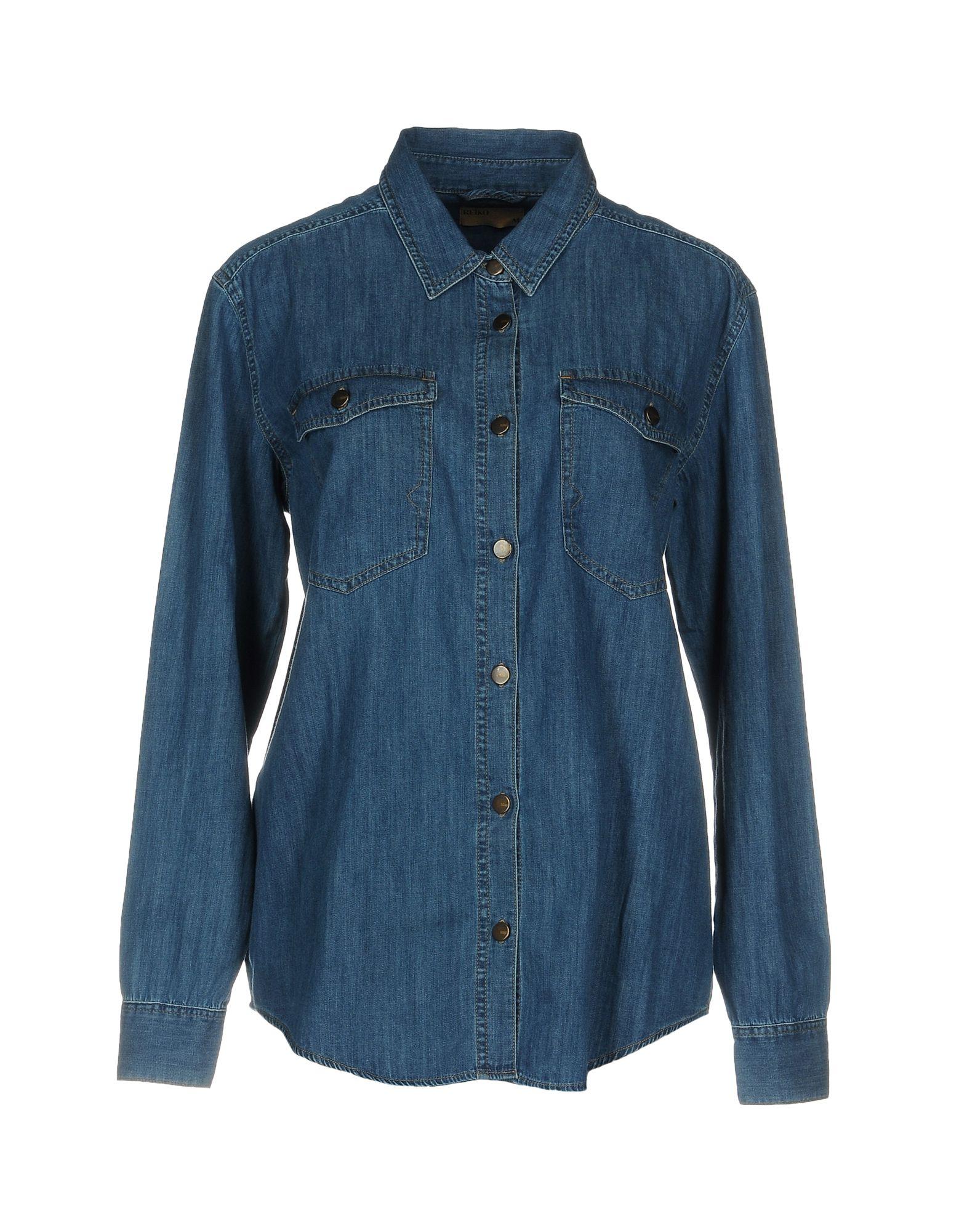REIKO Джинсовая рубашка reiko джинсовая верхняя одежда