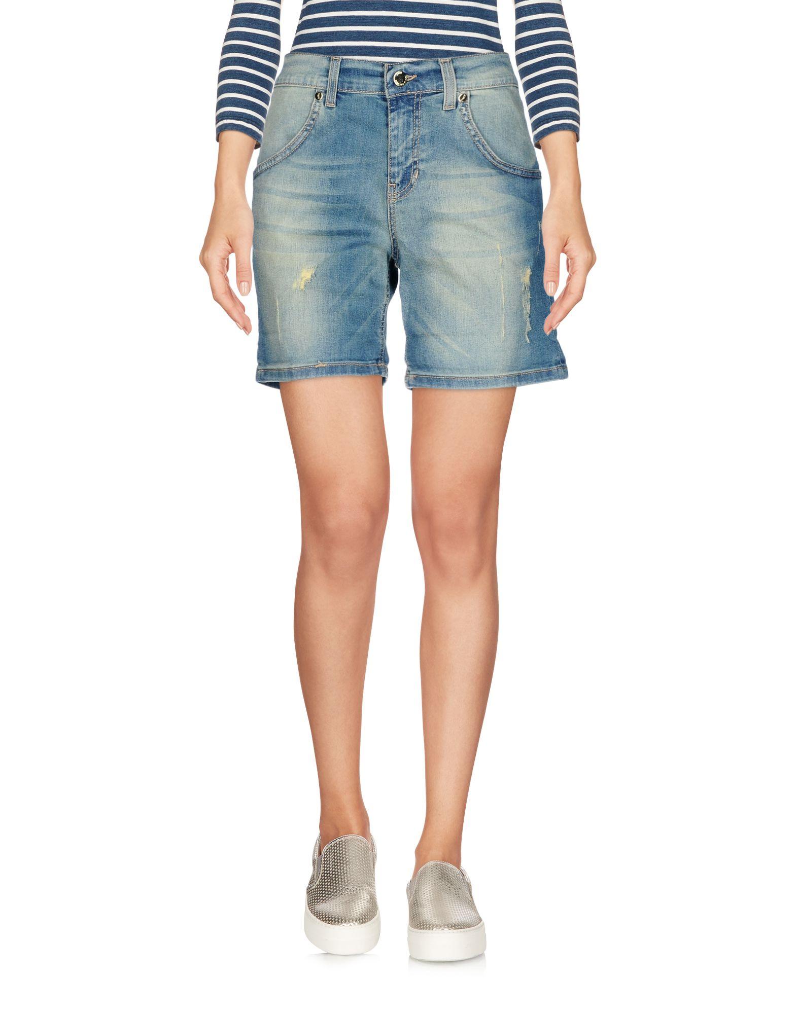 ANNA RACHELE JEANS COLLECTION Damen Jeansbermudashorts Farbe Blau Größe 3