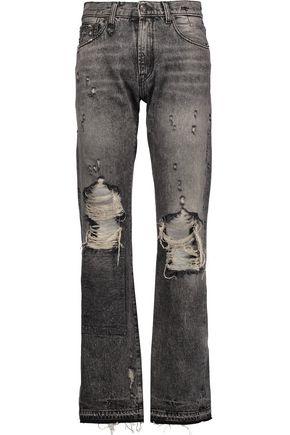R13 Classic faded distressed boyfriend jeans
