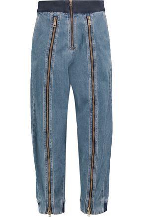 CHLOÉ Zip-embellished boyfriend jeans