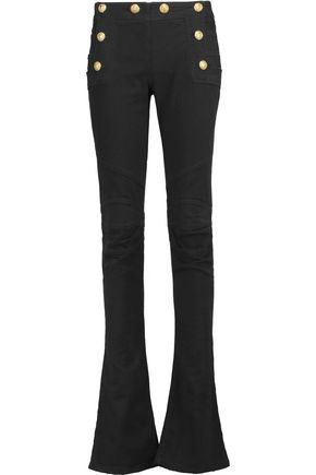 BALMAIN Mid-rise denim flared jeans