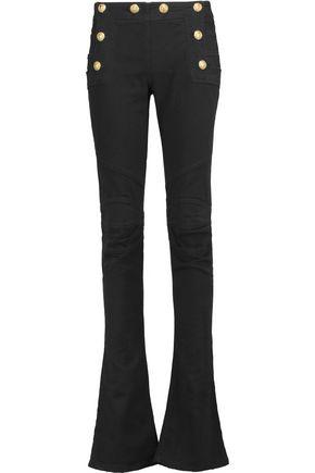 BALMAIN Mid-rise denim flared jeans