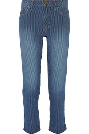 CURRENT/ELLIOTT The Fling striped boyfriend jeans