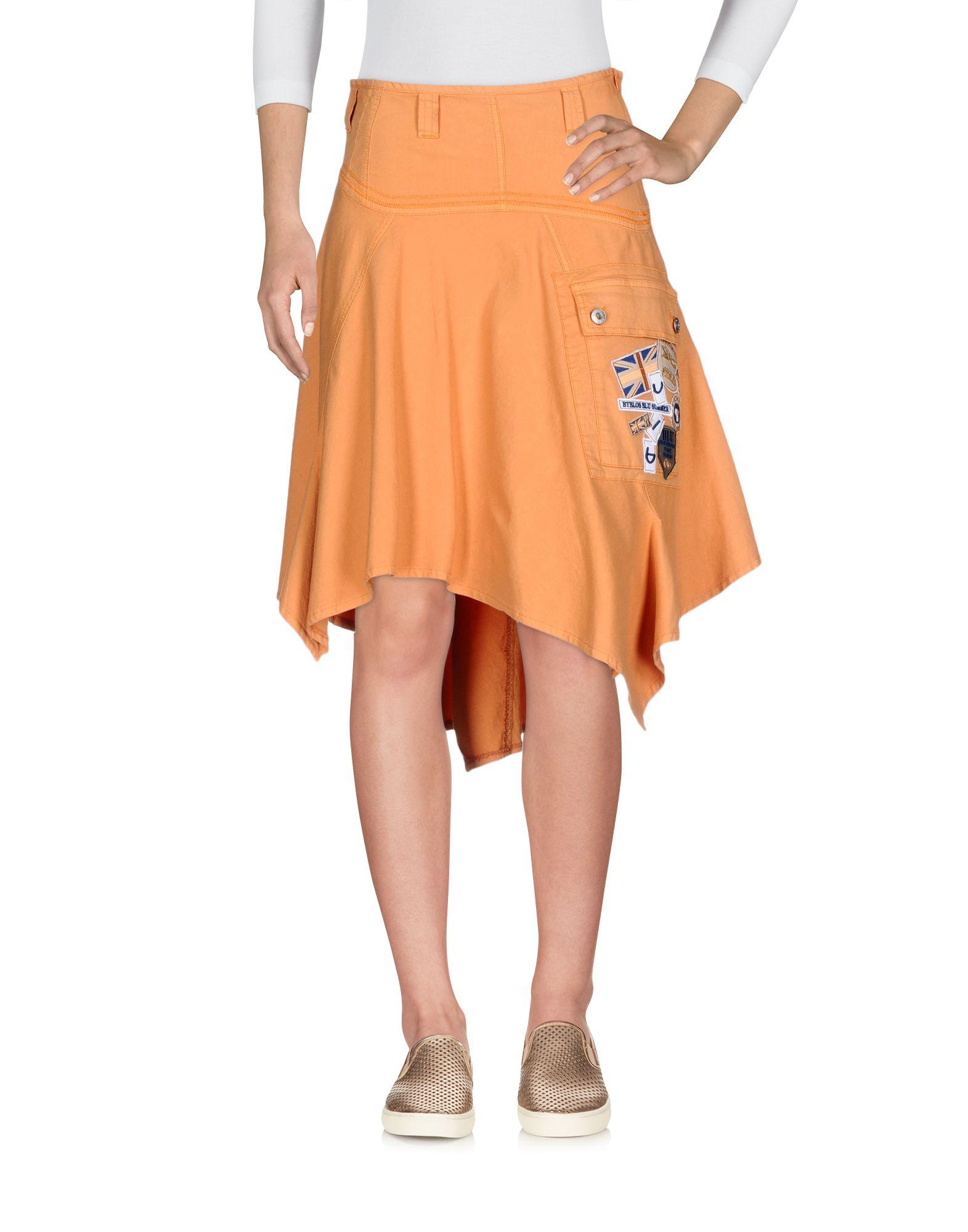 BLU BYBLOS Джинсовая юбка юбка для девочки bj6313 разноцветный byblos