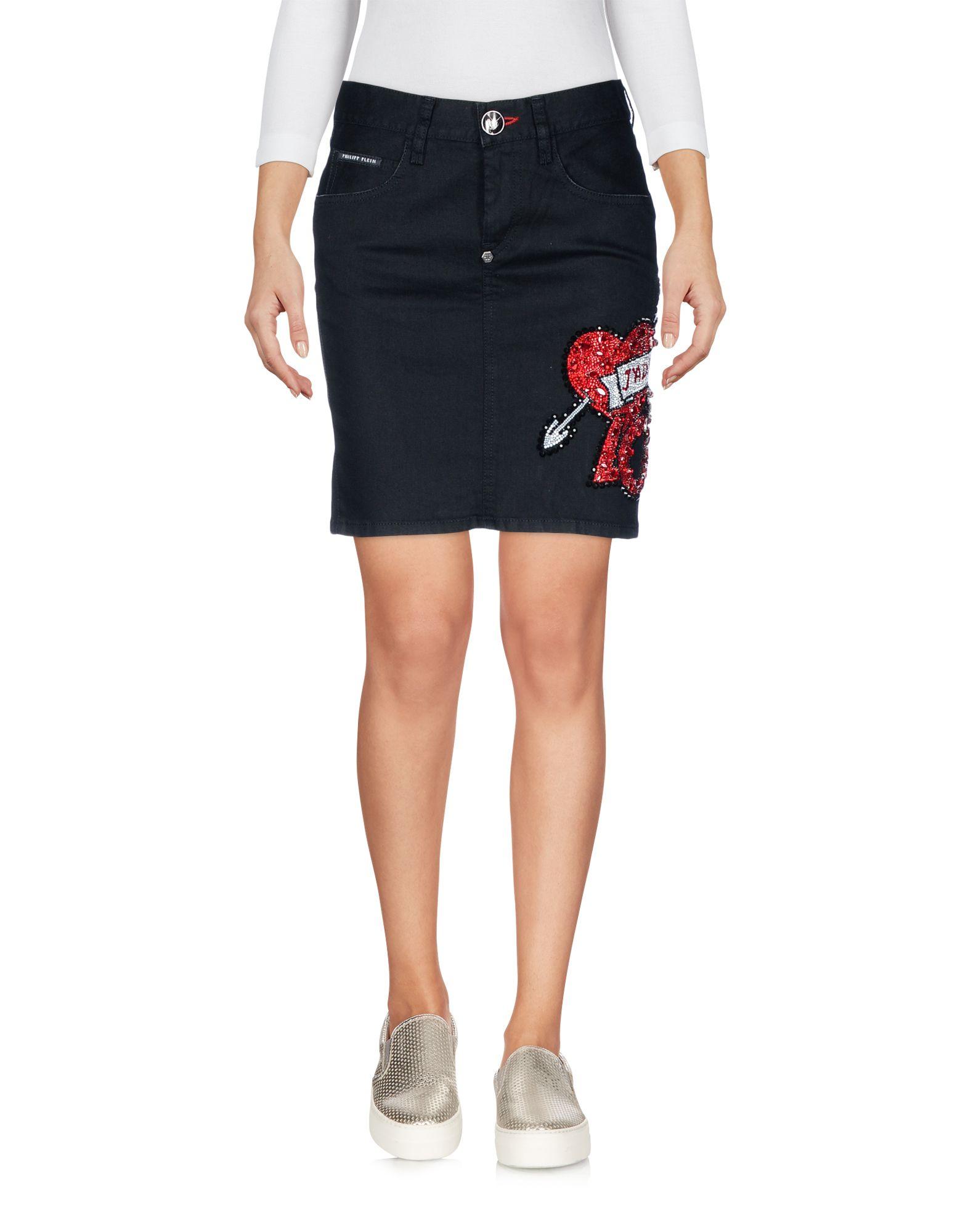 PHILIPP PLEIN Джинсовая юбка футболка via montenapoleone philipp plein