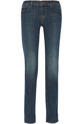 J BRAND Jude low-rise straight-leg jeans