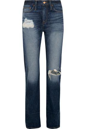 J.CREW Distressed high-rise boyfriend jeans