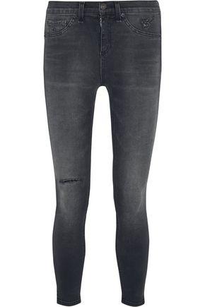 RAG & BONE The Capri cropped distressed mid-rise skinny jeans