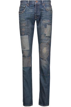 J BRAND Kirchoff 5x5 patchwork boyfriend jeans