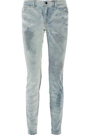 ALEXANDER WANG Wang 001 flocked mid-rise skinny jeans