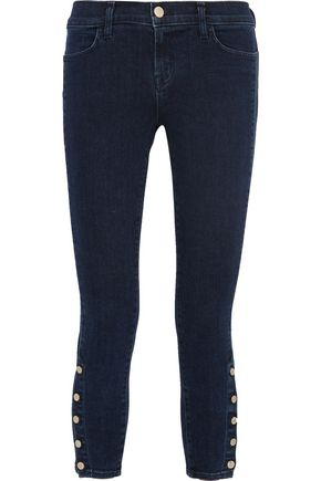 J BRAND Suvi high-rise cropped embellished skinny jeans
