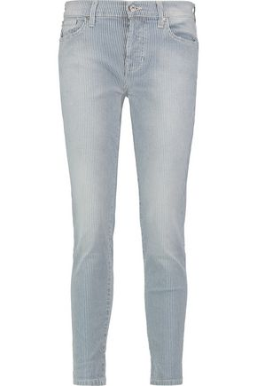 7 FOR ALL MANKIND Josefina mid-rise striped straight-leg jeans