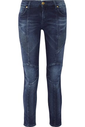 PIERRE BALMAIN Mid-rise distressed skinny jeans