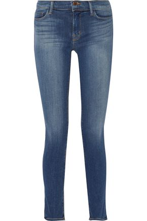 J BRAND 811 faded mid-rise skinny jeans