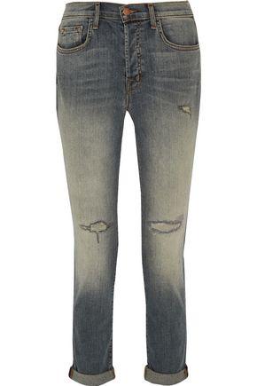 J BRAND Caitland distressed mid-rise boyfriend jeans
