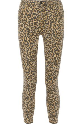 J BRAND Alana cropped leopard-print high-rise skinny jeans