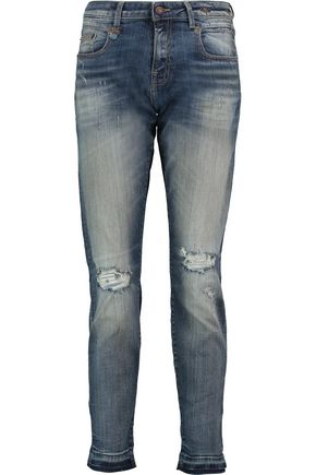 R13 Boy high-rise distressed skinny jeans