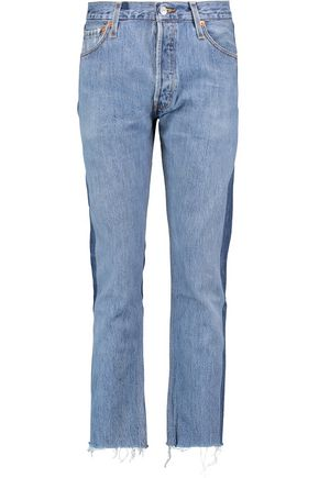 RE/DONE Mid-rise two-tone slim-leg jeans