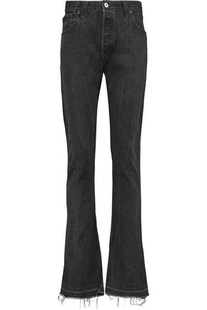 RE/DONE Elsa high-rise frayed flared jeans